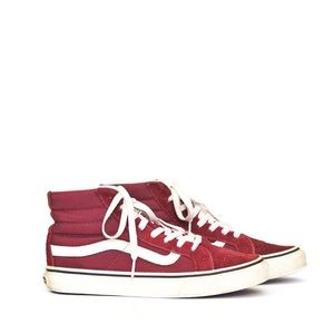 Vans | maroon high top sneakers